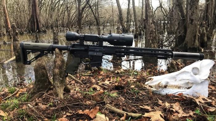 ATN X-Sight 4K Pro 5-20x Digital Night Vision Scope Mounted on Rifle