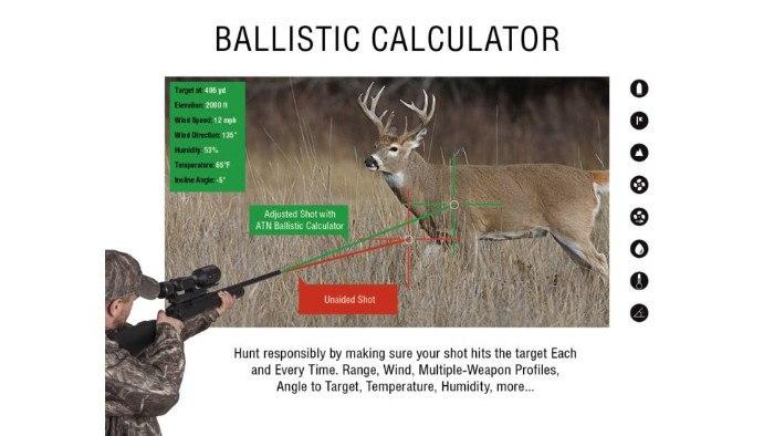Ballistic Calculator on ATN X-Sight 5-30x Digital NV Scope