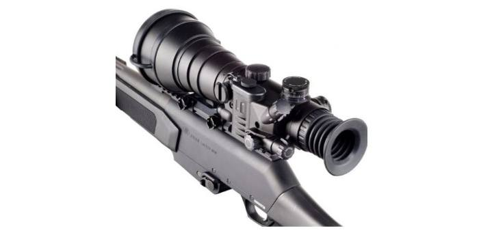 Bering Optics D-790W Night Vision Scope Mounted to Rifle