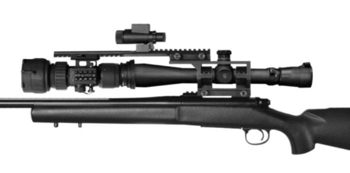 PS28-3P NV Scope Mounted to Rifle