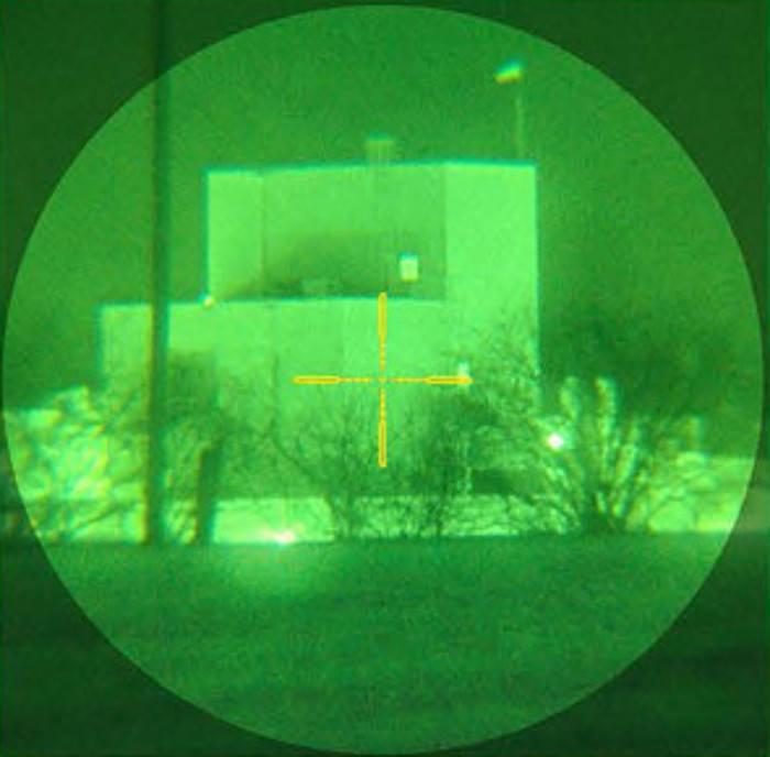 Reticle on Bering Optics D740 Gen 3+ Night Vision Scope