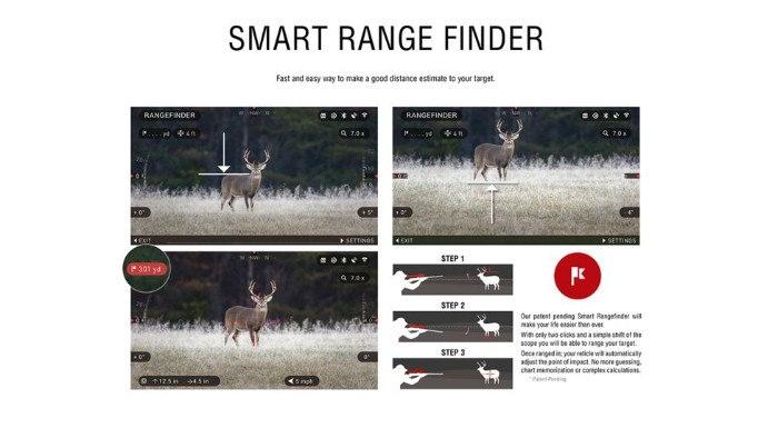 Smart Range Finder on X-Sight 4k 5-20x Day Night Rifle Scope