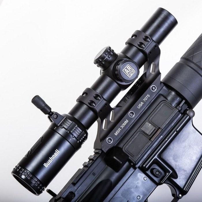 AR Optics 1-6x24 riflescope mounted to rifle