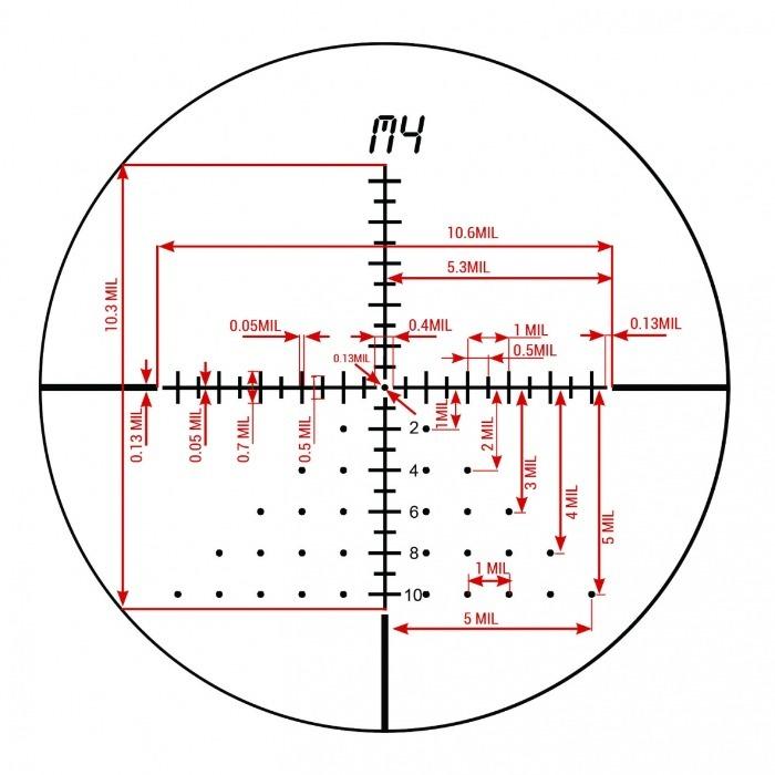 M4 Reticle Option on KonusPro EL-30 4-16x44 Riflescope