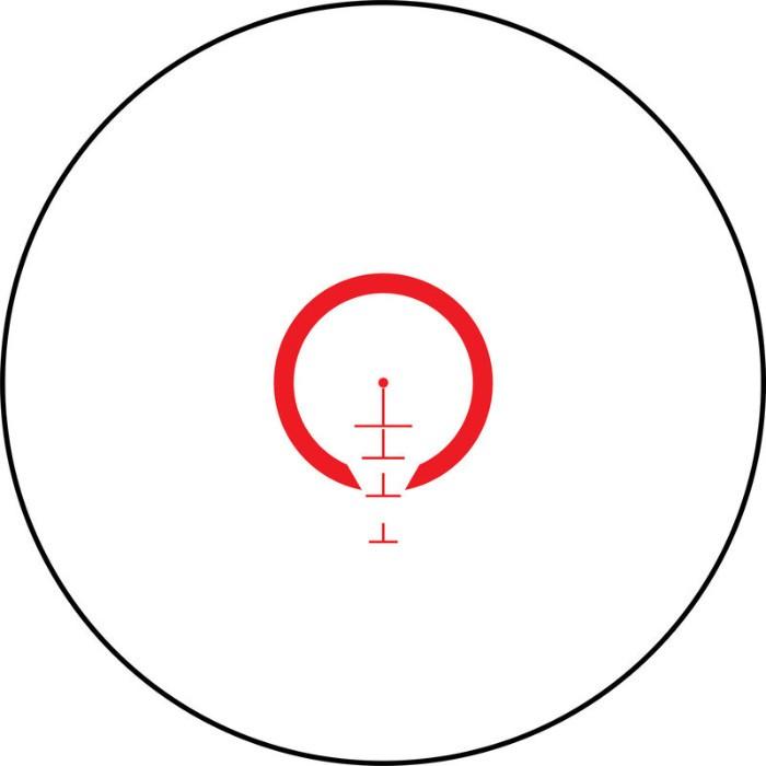 reticle of Bushnell AR Optics 1-6x24 riflescope