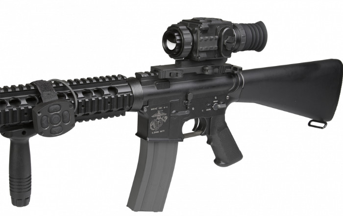 AGM Secutor TS25-384 Thermal Scope Mounted to Rifle