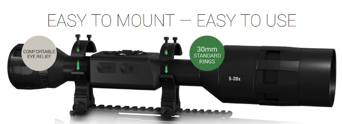 ATN X-Sight 4K Buckhunter 5-20x specs
