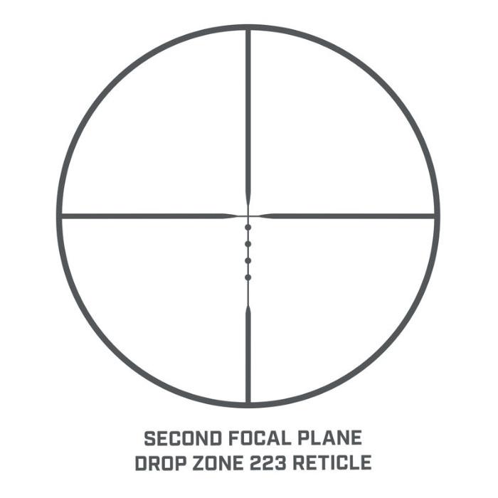 Drop Zone 223 reticle on the AR Optics 4.5-18x40 scope