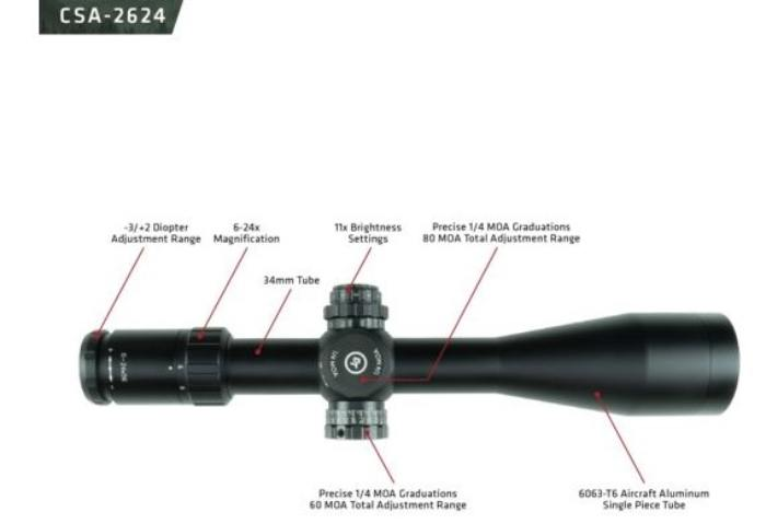 Features on Crimson Trace CSA-2624 6-24x56 riflescope