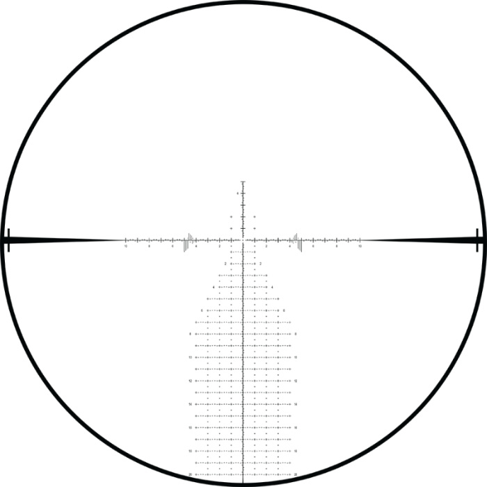 SCR2 MIL Reticle on Burris RT-25 5-25x56 scope