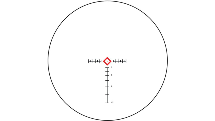 DTR BDC reticle for Atibal XP8 1-8x24 SFP riflescope