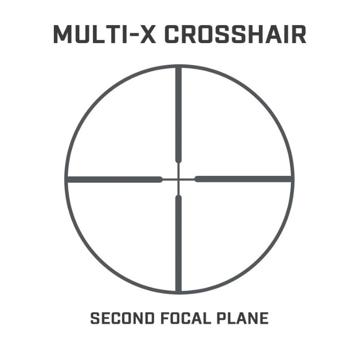 Multi-X crosshair reticle on Prime 1-4x32 riflescope