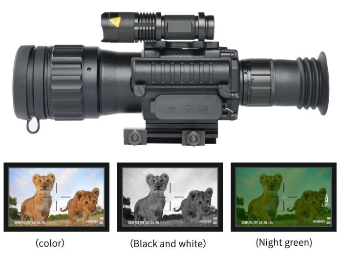 color modes on Sniper HD 4.5x50 digital nv scope