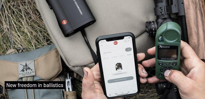kestrel ballistics connnected to rangefinder and mobile phone