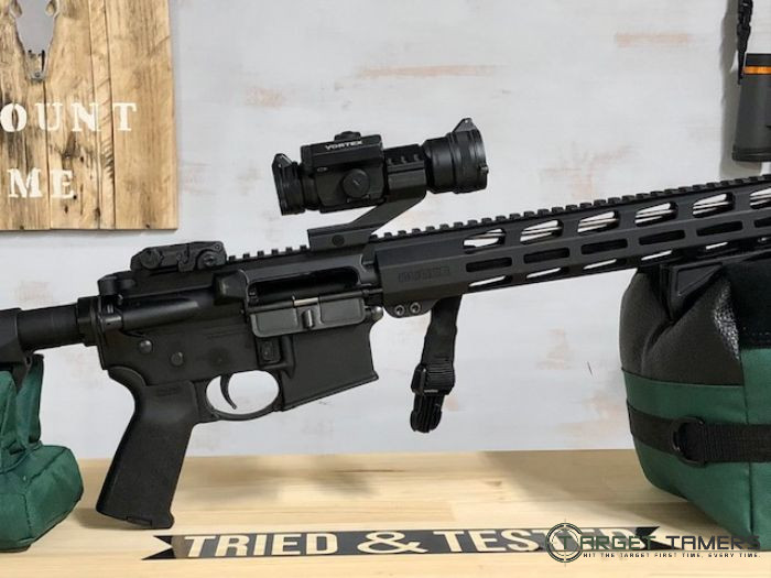 Vortex StrikeFire II Red Dot Sight Mounted to Rifle