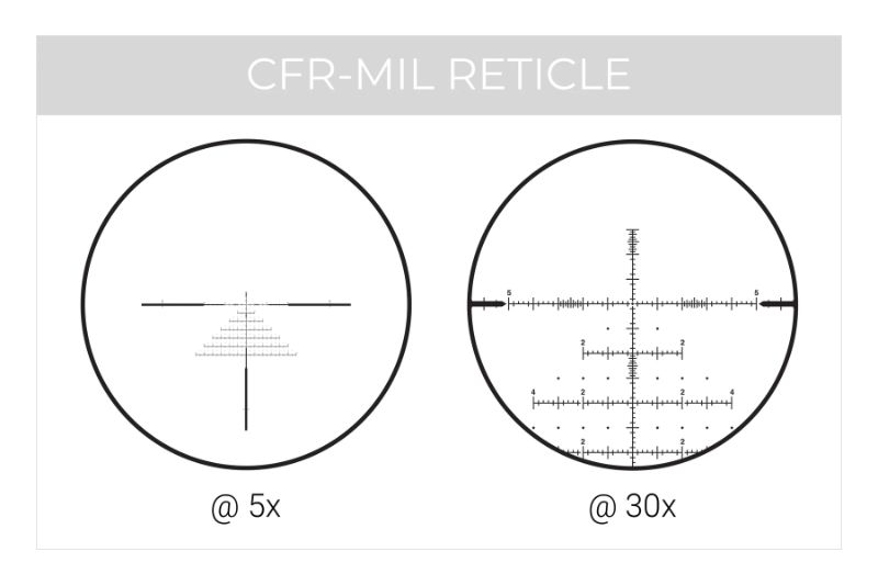 CFR Mil Reticle Option on Maven RS.4 Scope
