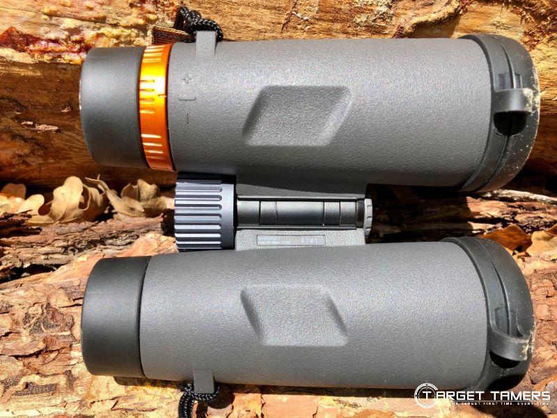Underside of Maven C1 8x42 binoculars